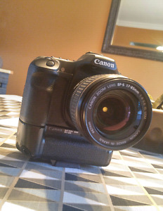 Canon 40D with Lens and Battery Grip