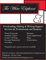 Writing, Editing & Transcription Services