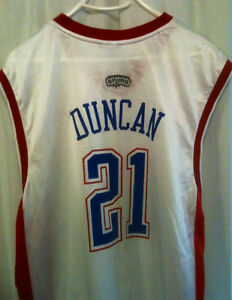 NBA Duncan All Star Jersey Authentic
