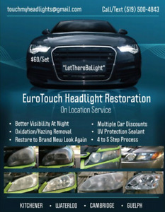 EUROTOUCH on location HEADLIGHT RESTORATION