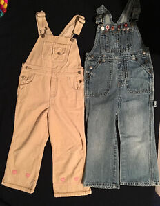 2 PARS GIRLS OVERALLS - SIZE 4