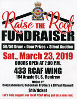 Fundraiser for the 433  rcaf wing renfrew Ontario
