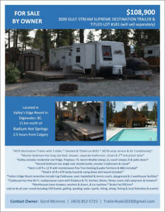 Vacation Lot and/or Trailer For Sale near Radium Hot Springs, BC