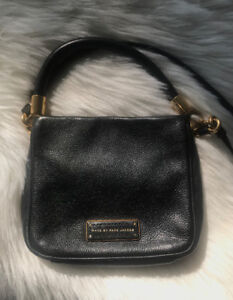 Marc by Marc Jacobs Black Mini Cross Body Purse in Leather