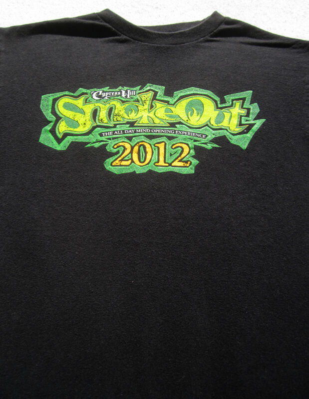 CYPRESS HILL Smoke Out 2012 concert SMALL T-SHIRT sublime korn wiz khalifa