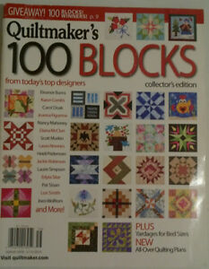 6 QuiltMakers  Magazines - 100 Block collection editions