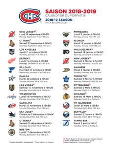 Billets demi-saison Canadiens (Blanc) 2018-2019 (en bas du cost)