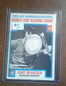 1975 bubble gum blowing champ baseball card Windsor Region Ontario image 1