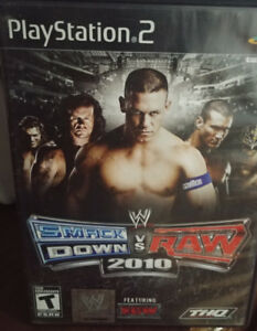 Smackdown Vs. Raw 2010-Playstation 2 Good Condition