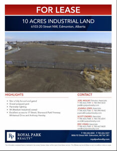 Up to 10 Acres SE Edmonton Industrial Land