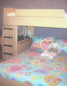 Double/Single Combo Bunk Bed - LIKE NEW!