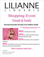 Lilianne Lingerie Family and Friends Event