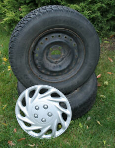 Set of 4 Goodyear Nordic Winter Tires with wheel covers
