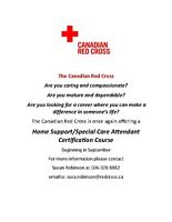 Home Support/Special Care Attendant Course