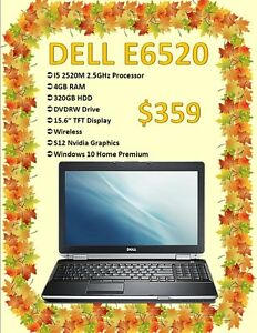 FALL LAPTOP SALE - Dell E6520 Laptop Only $359!