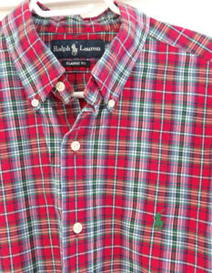 Men's POLO Ralph Lauren Plaid Button Down Shirt - Excellent Cond
