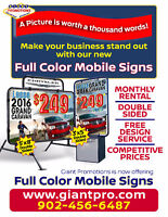 Curbside Signs for Sale or rent