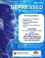 """Are you Depressed and 20-55 years old? PARTICIPATE IN RESEARCH"""""""
