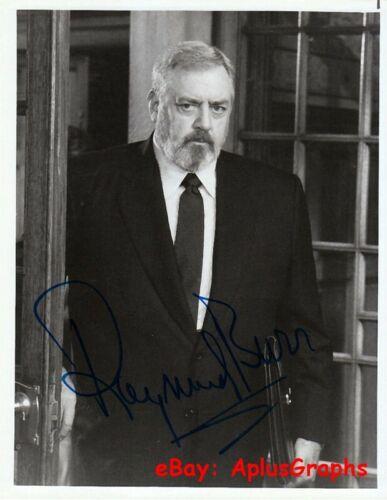 RAYMOND BURR... as Perry Mason - SIGNED