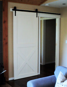 Modern or rustic soft close barn door hardware London Ontario image 10