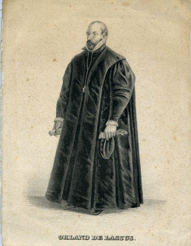 Orlande DE LASSUS (Composer): Engraved Portrait