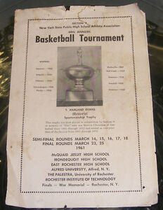 1961 Jim Boeheim LYONS Basketball Program / Orange NCAA Kingston Kingston Area image 1