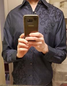 CK Guess H&;M Mens Designer Dress & Casual Shirts small -Large