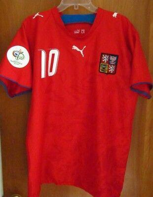 CZECH REPUBLIC World Cup 2006 soccer jersey Tomas Rosicky FIFA futbol XL  image