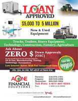 FINANCING FOR BUSINESS/TRUCK/TRAILER LEASE