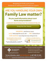 Family Law Workshop - Doing Your Own Divorce