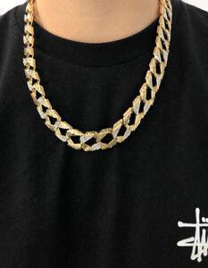 Link Chain with Cubic Zirconium