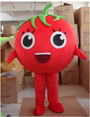 Party Costumes Stores (Cosplay Adult Tomato Girl Mascot Advertising Store Costume Vegetable Dress)