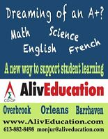 Math, Science, English & French Tutoring with Certified Teacher