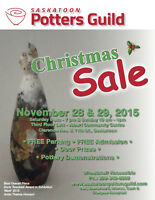 SASKATOON POTTERS' GUILD ANNUAL CHRISTMAS SALE!!