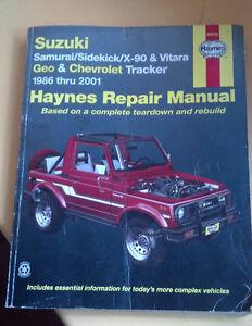 Suzuki Sidekick / Geo Tracker / Vitara Repair Manual