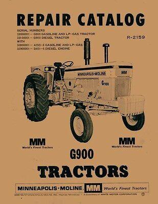 Minneapolis Moline G900 G-900 Parts Manual Catalog 2159