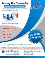 FREE TAX CLASSES - FILE YOUR TAX RETURN BY YOURSELF