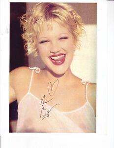 SEXY Drew Barrymore signed 8x10 photo w/coa
