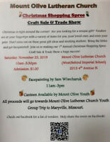 Mount Olive Lutheran Church Craft Sale & Trade Show