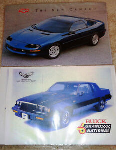 GM Chevrolet 1995 Camaro Z 28 & Buick Grand National Posters