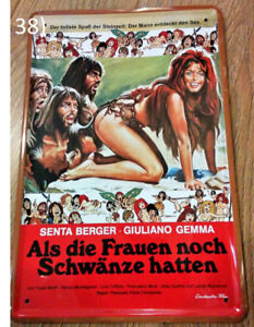"German ""When Women Had Tails"" (1970 Film) Ad Metal Sign"
