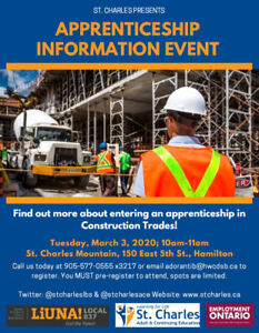 Apprenticeship Information Event at St. Charles