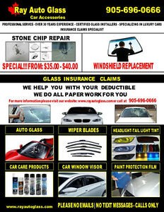 AUTO GLASS/STONE CHIP REPAIR-HEADLIGHT TINT-TAIL LIGHT TINT