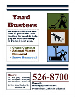 YARD CARE GRASS/LAWN CUTTING / DOG WASTE / SNOW REMOVAL
