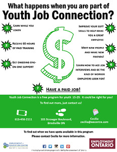 Youth Job Connection - would it be right for YOU?