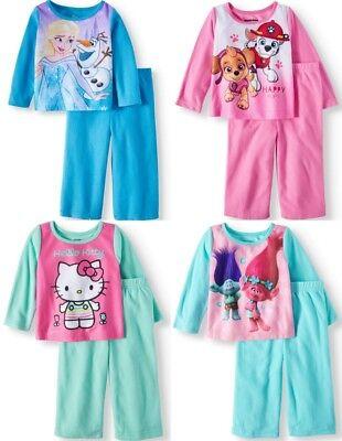 Girls Pajamas Paw Patrol Frozen Trolls Hello Kitty - Kitty Paw