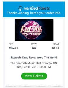 Rupal's Drag Race WERQ THE WORLD Sat Sep 8 2018 Toronto 3 P.M.