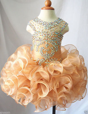 Infant toddle kids mini party pageant dress birthday cupcake dance ball gowns](Cupcake Communion Dress)