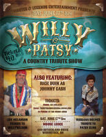 WILLIE AND PATSY TRIBUTE SHOW; MOOSE LODGE WOODSTOCK JUNE 17