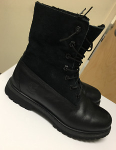 Timberland Boots, Women's, All Black, Size 7.5, Like NEW!
